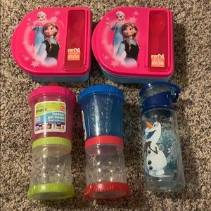 Kids snack 2 time and one cup  and lunch box3